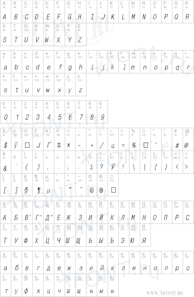 MonoCondensedC Italic