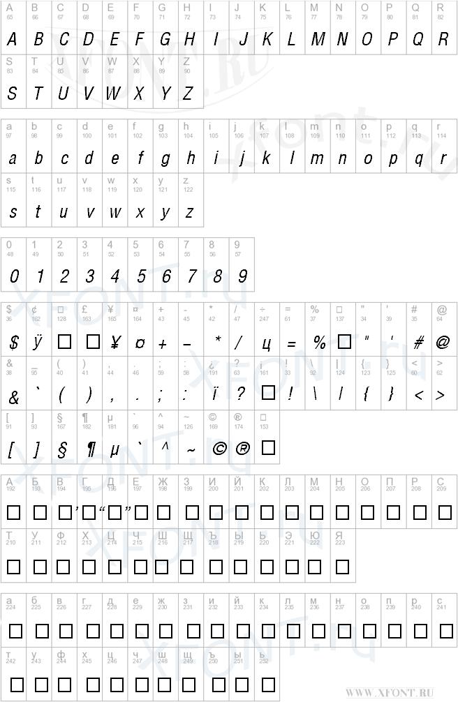Шрифт dinpro regular