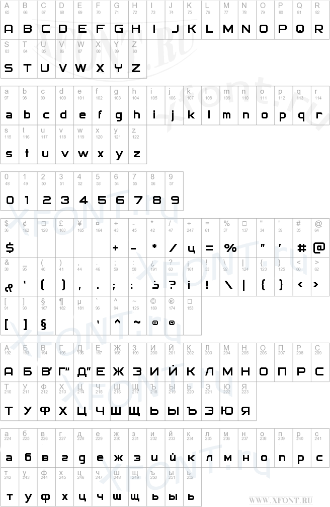 Archangelsk Скачать Шрифт