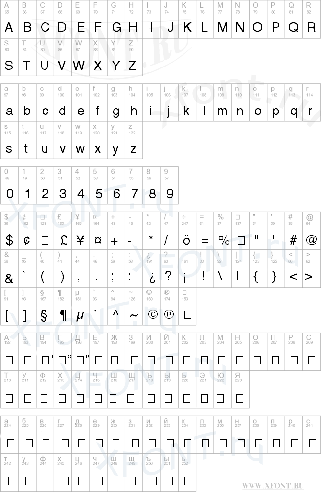 Helvetica regular шрифт