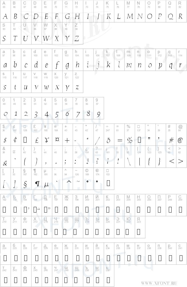 Humana Serif ITC TT LightItalic