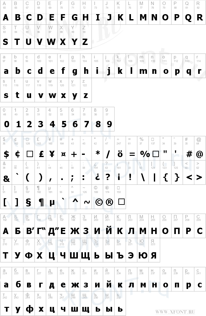 Tahoma italic скачать шрифт.