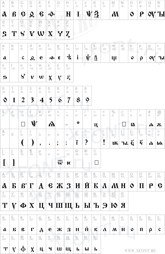 Скачать шрифт izhitsa русский.