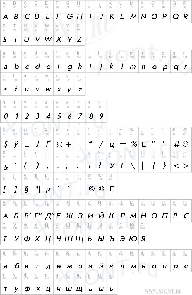 JournalSans Italic Cyrillic