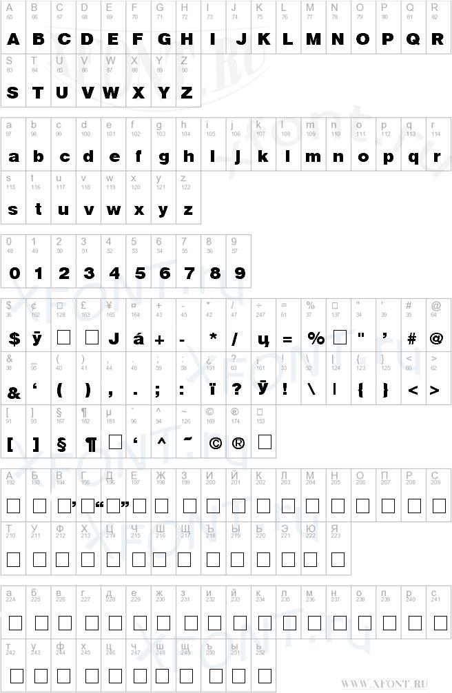 Helvetica Black Cyrillic Bold