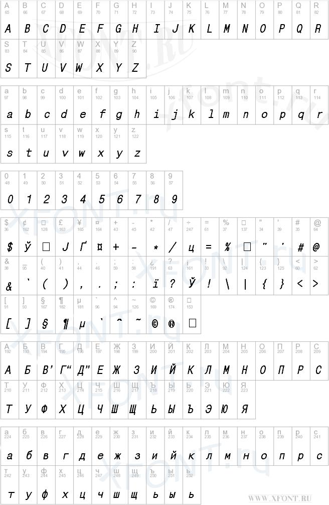 MonoCondensedC Bold Italic