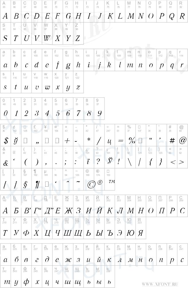 Literaturnaya Italic:001.001