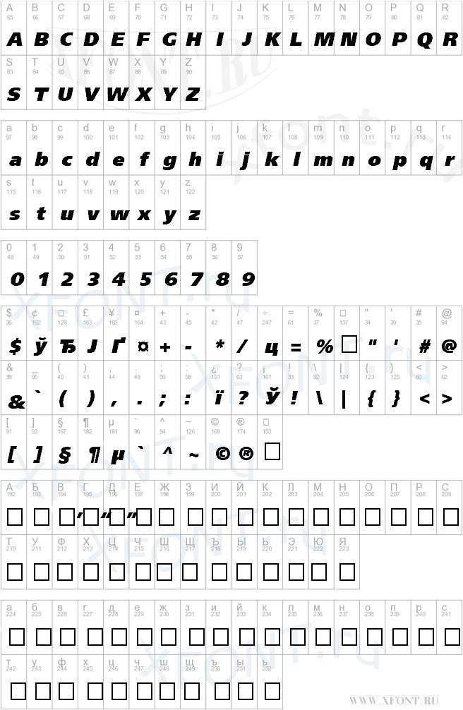 FreeSetExtraCTT Italic