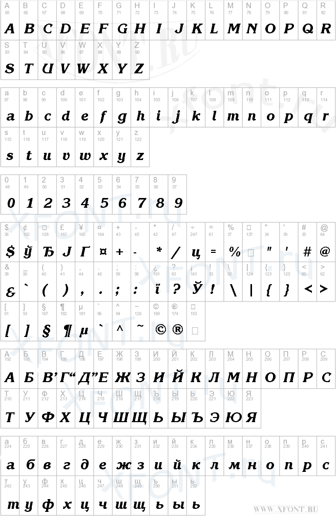 KorinnaBlackCTT Italic