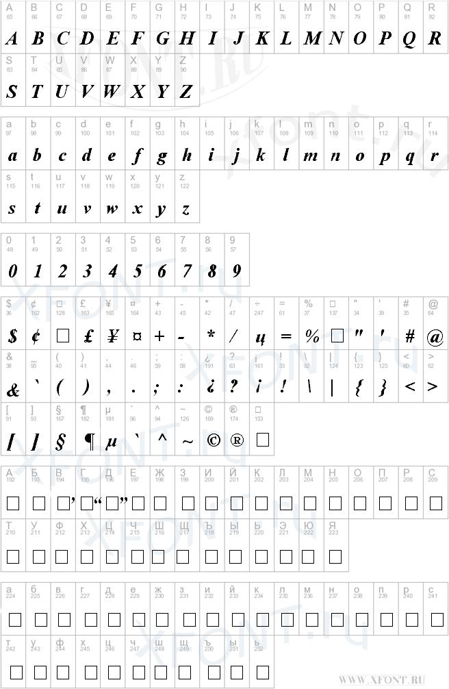 Time Roman Bold Italic
