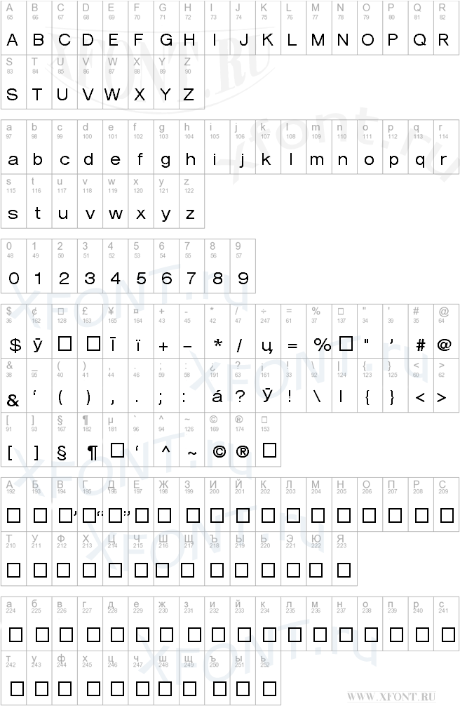 Verona Cyrillic Bold