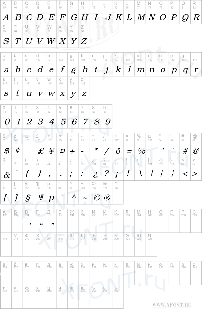 Bookman Italic