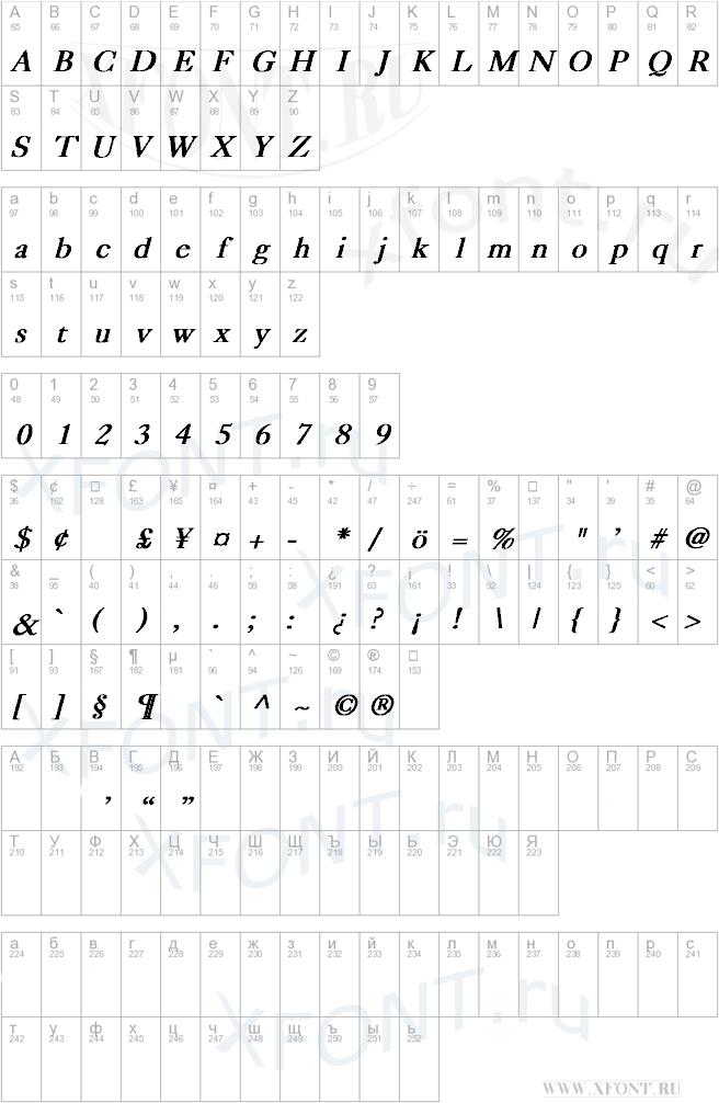 Caslon Bold Italic