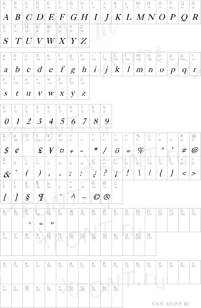 Caslon Italic
