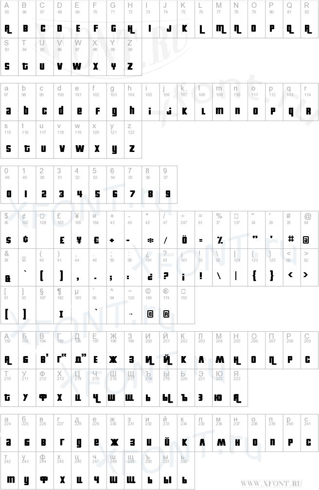 Шрифт gta