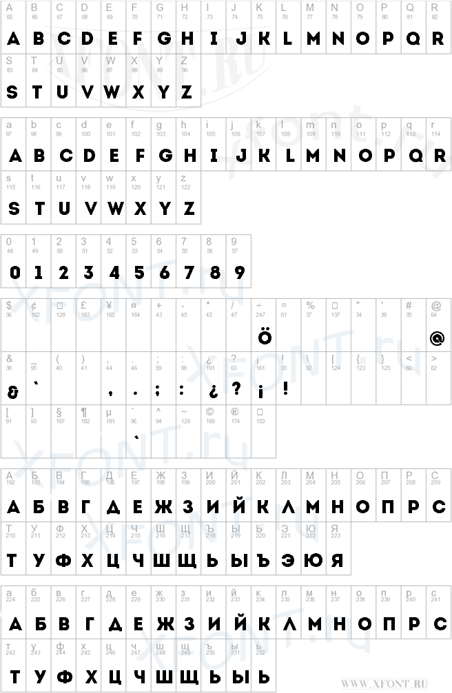 Шрифт Intro