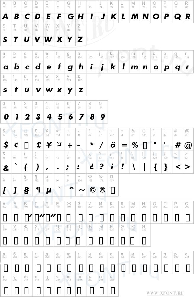 Futura Bold Italic BT   XFont ru - шрифты, скачать шрифт