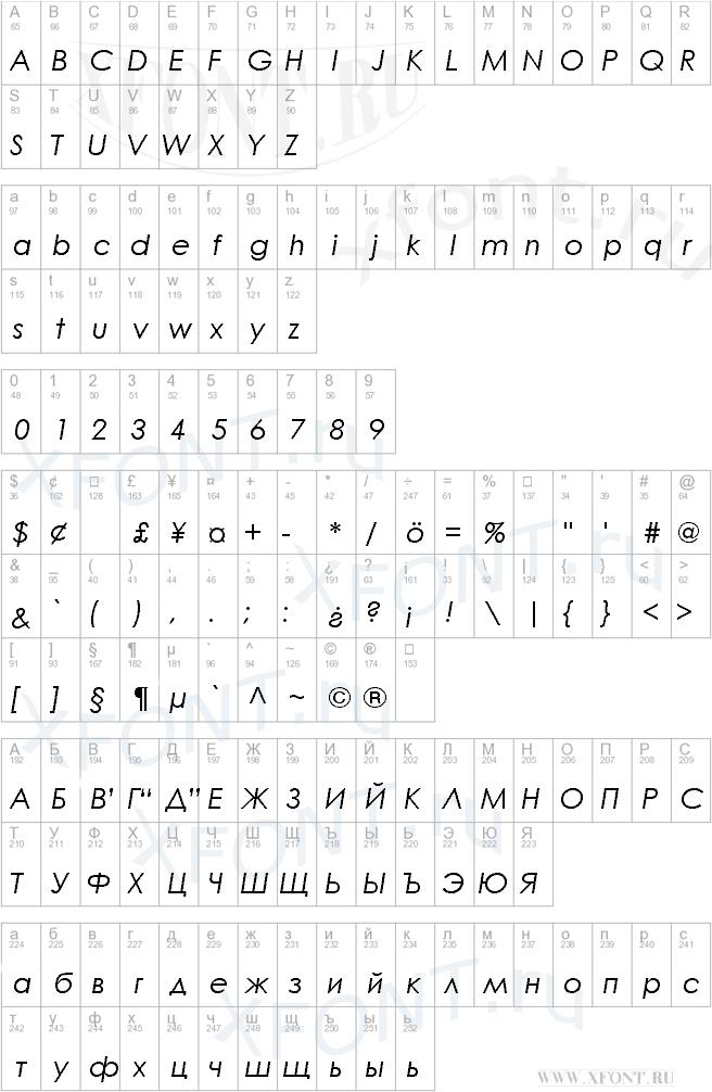 Century Gothic Italic
