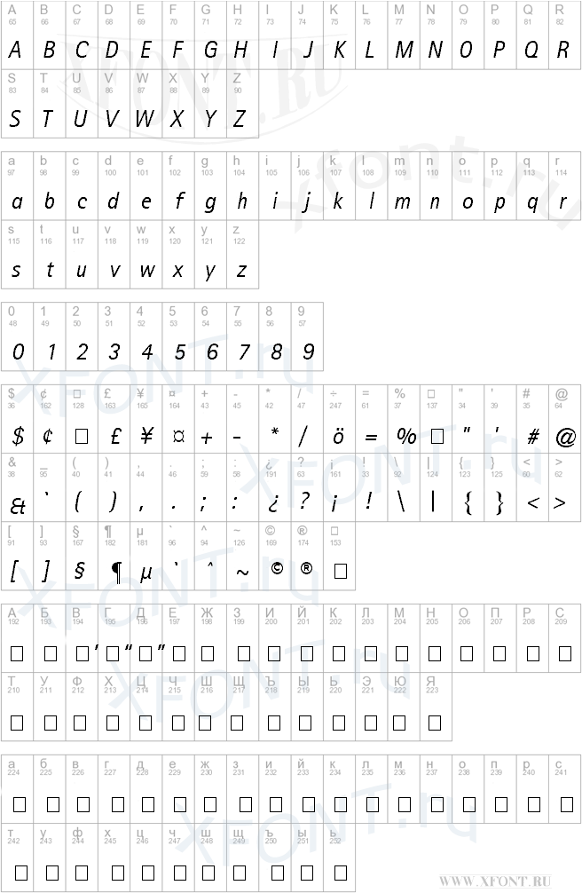 Libre Sans Serif SSi Italic