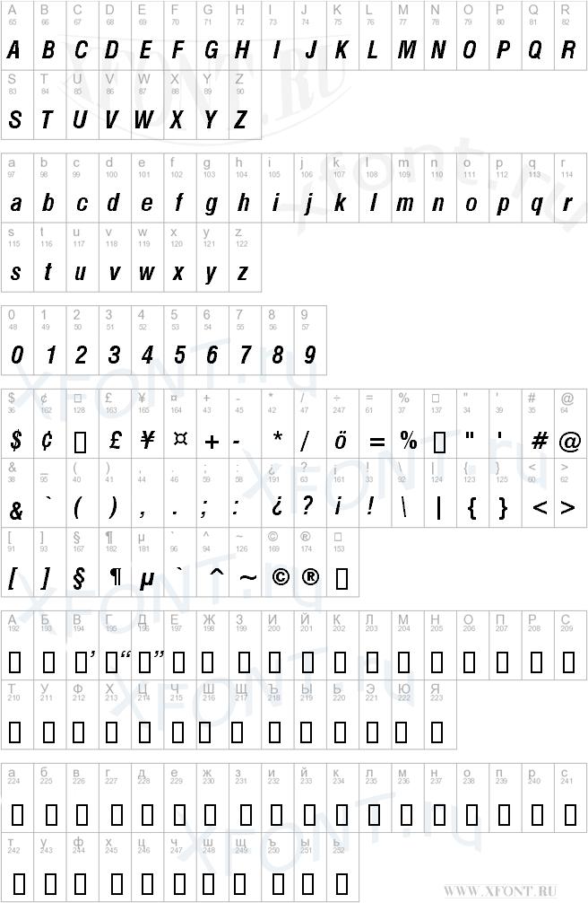 Swiss 721 Bold Condensed Italic BT